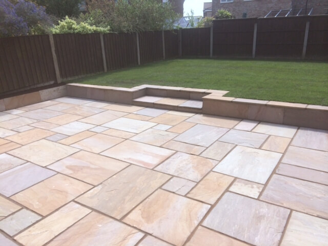 Full Garden makeover including Patio & Garden Walls Liverpool - Ju0026L Landscapes